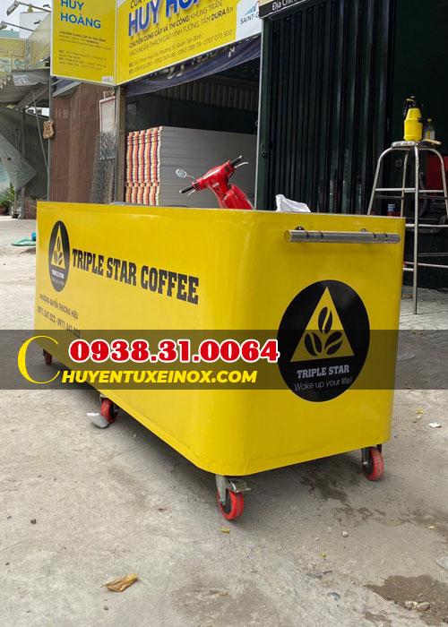 Xe bán cà phê pha máy