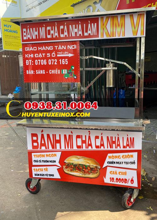 Xe bánh mì chả cá giá rẻ