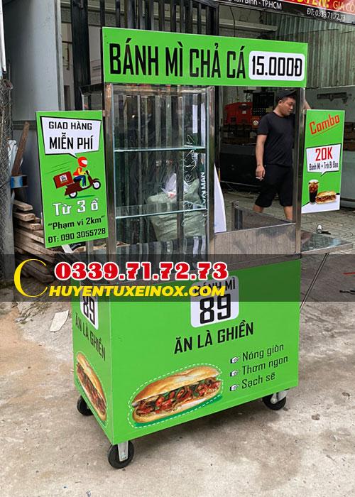 Xe bánh mì chả cá Kiệt Phát